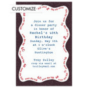 Over the Hill 60 Custom Invitation