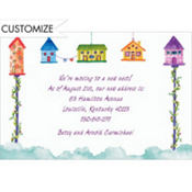 Bird Houses Custom Invitation