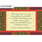 Christmas Woodblock Custom Invitation