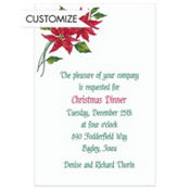 Poinsettia Custom Invitation