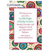 Holiday Circles Custom Invitation