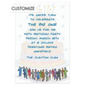 It's a Birthday Cake! Custom Invitation