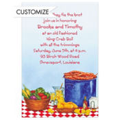Party with King Crabs Custom Invitation