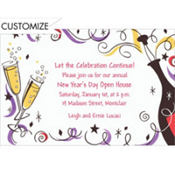 Champagne Celebration Custom Invitation