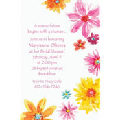 Big Painterly Flowers Custom Invitation