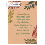 Fancy Ferns Custom Invitation