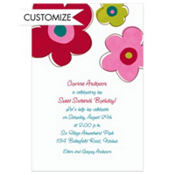 Oversized Retro Blooms Custom Invitation