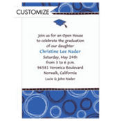 Mortarboard & Pattern Custom Graduation Invitation
