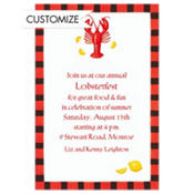 Lobster & Lemon Custom Invitation