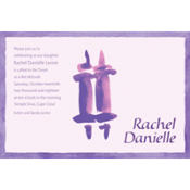Torah with Border Feminine Custom Invitation