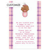 Baby Girl Portrait African Custom Baby Shower Invitation