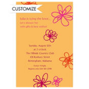 Playful Blooms Custom Invitation