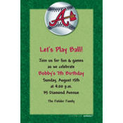 Atlanta Braves Custom Invitation