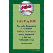 Cleveland Indians Custom Invitation