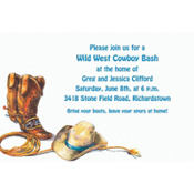 Cowboy Boots, Hat & Lasso Custom Invitation