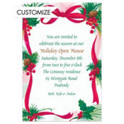 Ribbon, Bow & Sprigs Custom Invitation