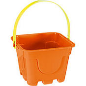 Orange Square Pail 4in x 5in