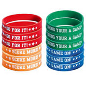 Football Wristbands 12ct