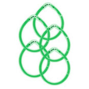 Green Glow Bracelets 8in 5ct