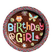 Hippie Chick Birthday Dessert Plates