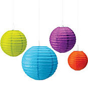 Bright Paper Lanterns 4ct