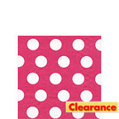 Big Dots Raspberry Beverage Napkins 20ct