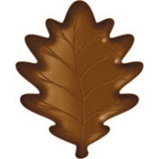Large Leaf-Shaped Plastic Platter 16in x 12in