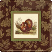 Thanksgiving Sophistication Square Dinner Plates 8ct