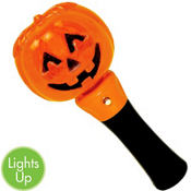 Light-Up Spinning Pumpkin Wand 8in