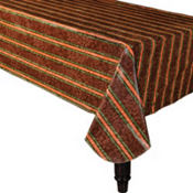 Thanksgiving Fabric-Backed Table Cover 52in x 90in