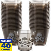 Midnight Dreary Plastic Tumblers 40ct