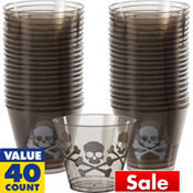 Midnight Dreary Plastic Tumblers 9oz 40ct
