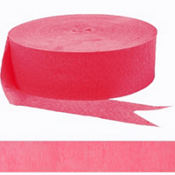 Hot Pink Crepe Streamer 500ft