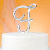 Monogram F Cake Topper