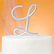 Monogram L Wedding Cake Topper