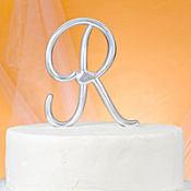 Monogram R Cake Topper