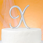 Monogram X Wedding Cake Topper