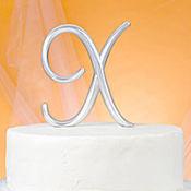 Monogram X Cake Topper
