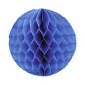 Bright Royal Blue Honeycomb Ball 11in