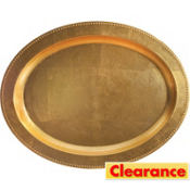 Elegant Gold Holiday Oval Platter 19 3/4in x 15 1/2in