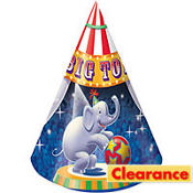 Big Top Birthday Party Hats 8ct