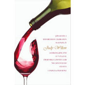 Pour Me a Glass Custom Invitation