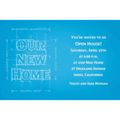 New Home Blueprints Custom Invitation