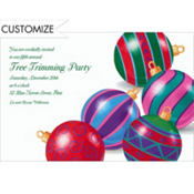 Posing Ornaments Custom Invitation