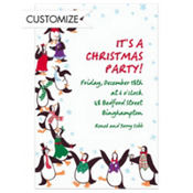 Partying Penguins Custom Invitation