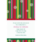 Cool Holiday Stripe Custom Invitation