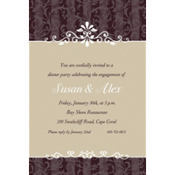 Ornamental Lines Taupe Custom Invitation
