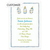 Little Boy Bottles Custom Baby Shower Invitation