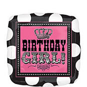 Happy Birthday Balloon - Square Rocker Girl