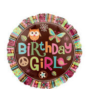 Foil Hippie Chick Birthday Balloon 18in